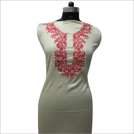 Ladies Embroidery Beige Kurta