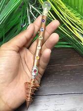 Chakra Copper Healing Wand with Spiral Copper