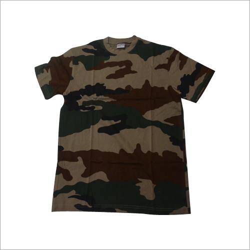 Army Print Half T-Shirt