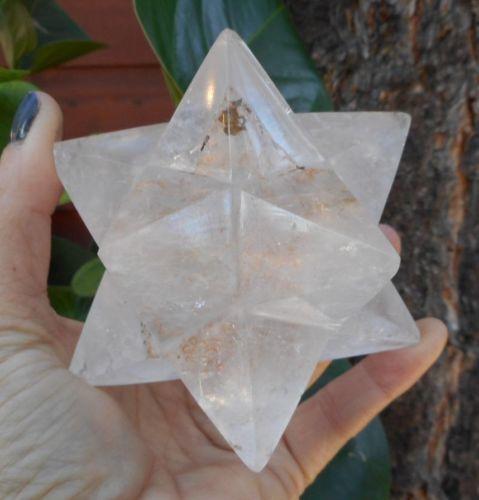 Crystal Quartz 12 Point Merkaba Star