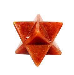 Natural Approx 75mm Red Carnelian Merkaba Star