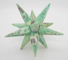 Ruby Fuchsite 12 Point Merkaba Star