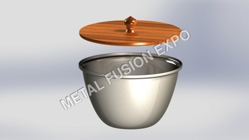 steel and wood bowl