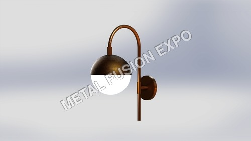 brass coated wall light