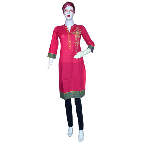 Full Sleeve Embroidered Kurti