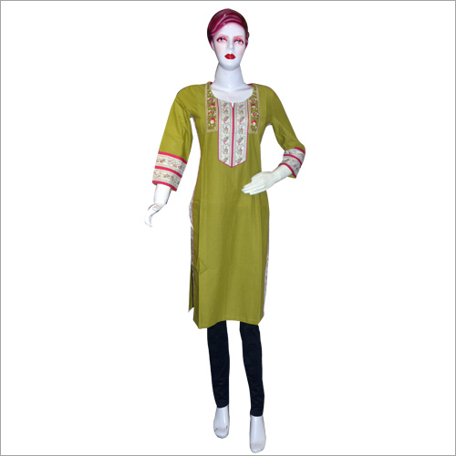 Printed Embroidered Kurti