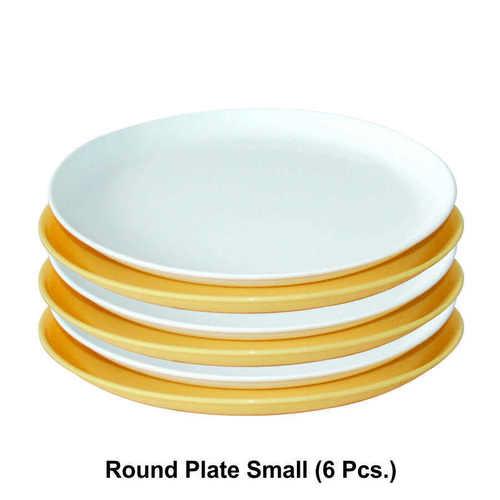 WONDER  MICROWAVE SAFE PLASTIC ROUND  PLATE SMALL 6PC SET