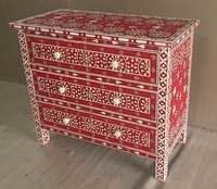 Bone Inlaid Drawer Chest