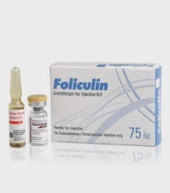 Foliculin Urofollitropin 75 I.U. Injection