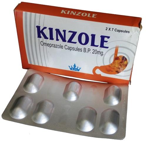 Kinzole Gastro Resistant Omeprazole Capsules BP 20 mg