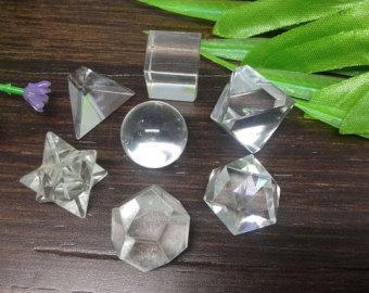 Clear Quartz Platonic Solids Sacred Geometric Set