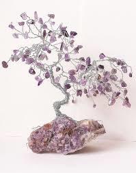 Amethyst Gem Tree- 100 beads