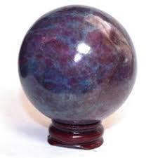Ruby With Kynite Spheres