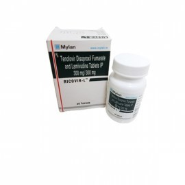 Ricovir L - Tenofovir 300 mg & Lamivudine 300 mg Tablets