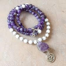 Amethyst Crystal Rose Qtz Jap Mala 108 Beads