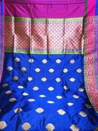 PUURE KATAN SILK HANDLOOM TRADITIONAL WEAWING SARE