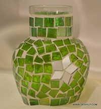 Best seller different types mosaic candle jar votive