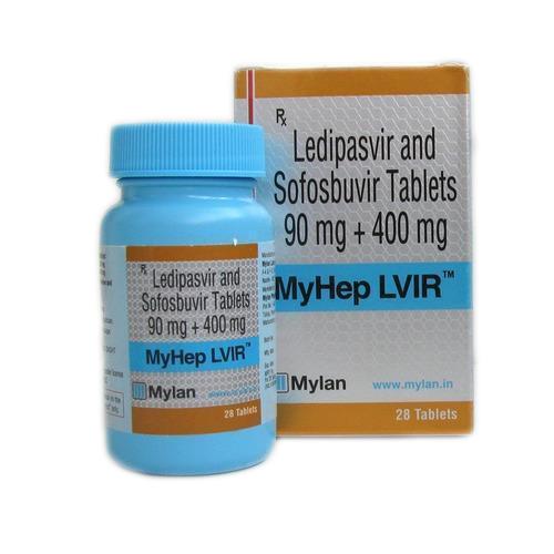 Sofosbuvir 400mg + Ledipasvir 90mg Tablet