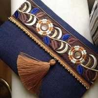 Jute emboidery pouch