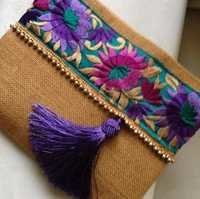 Jute ladies pouch