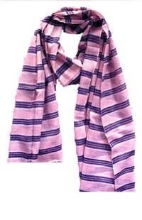 Pink Blue Strip Scarf