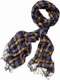 Check man's yarn dyed scarf