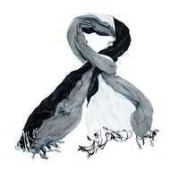 Black and white Yarn dyed  scarf