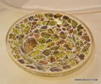 Antique and Decorated Glass Plate