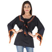 Rayon  latest fashion Strap design Tops women casual embroidery designs for blouse