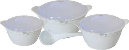 WONDER  MICROWAVE SAFE PLASTIC SERVING BOWL GIFT SET 3PC SET