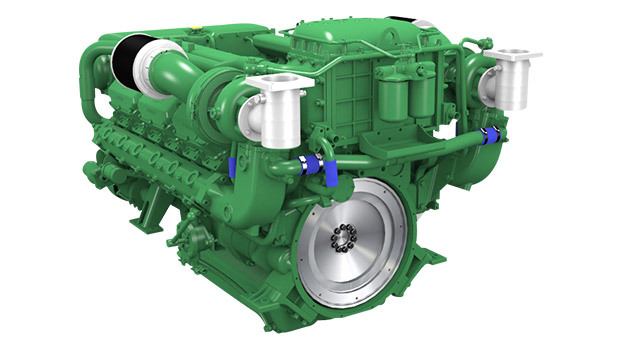 Marine heavy duty engine 588 hp