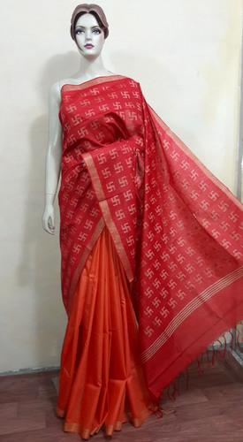 Bhagalpuri Cotton Silk Sare