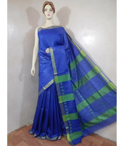 Cotton Silk Pallu Jacquard Saree