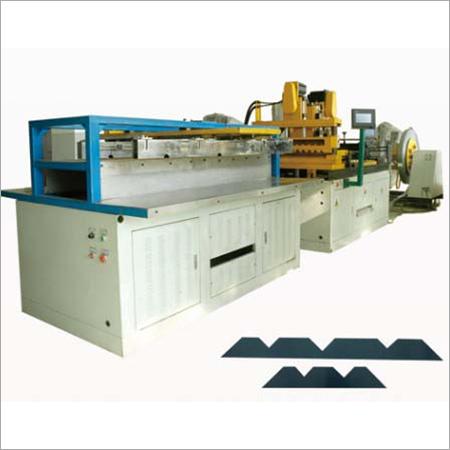 JN 4003DS NC swing shear step lap transformer core cutting to length line