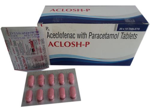Aceclofenac 100 mg & Paracetamol 500 mg Tab