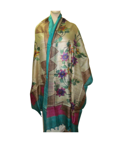 Tussar Desi Brush Painting Dupatta