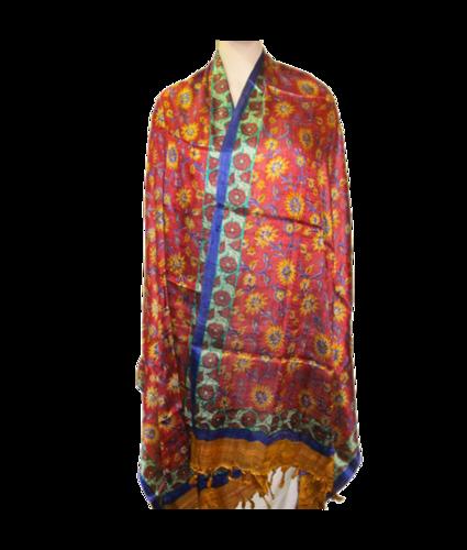 Bhagalpuri Kela Silk Block Print Stole