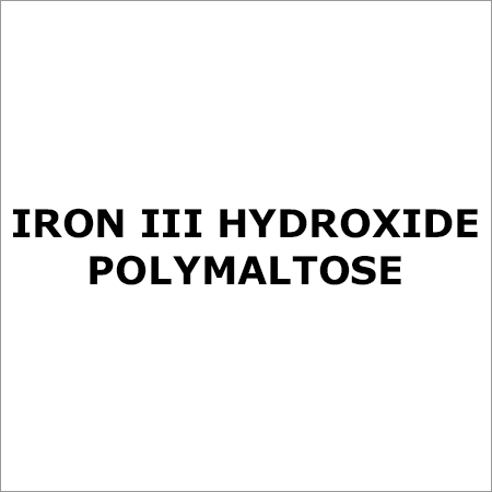 Iron Iii Hydroxide Polymaltose