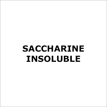 Saccharine Insoluble