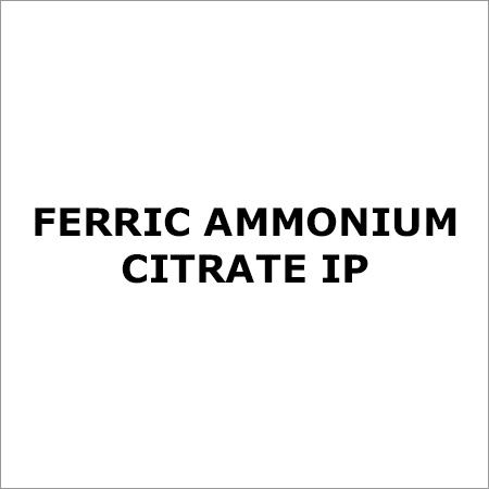 Ferric Ammonium Citrate IP