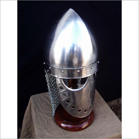 Iron Helmet, Goves & Stand