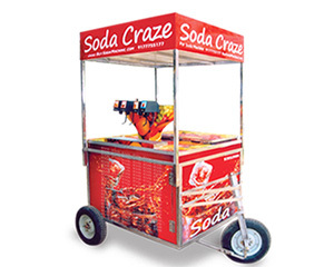 Soda Fountain Machine Push Cart
