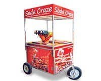 Soda Fountain Machine Push Cart