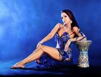 Belly Dance Blue Costume