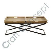Mango Wood & Metal Coffee Table