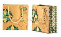 Designer Paper Gift Bags in in Gold and Silver Prints