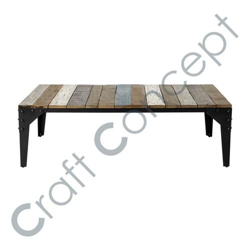 Mango Wood & Metal Coffee Table