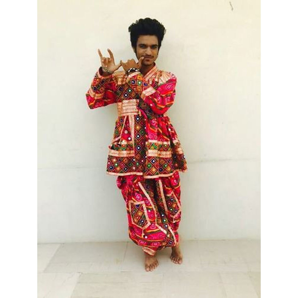 Dandiya Dress Pink Costume