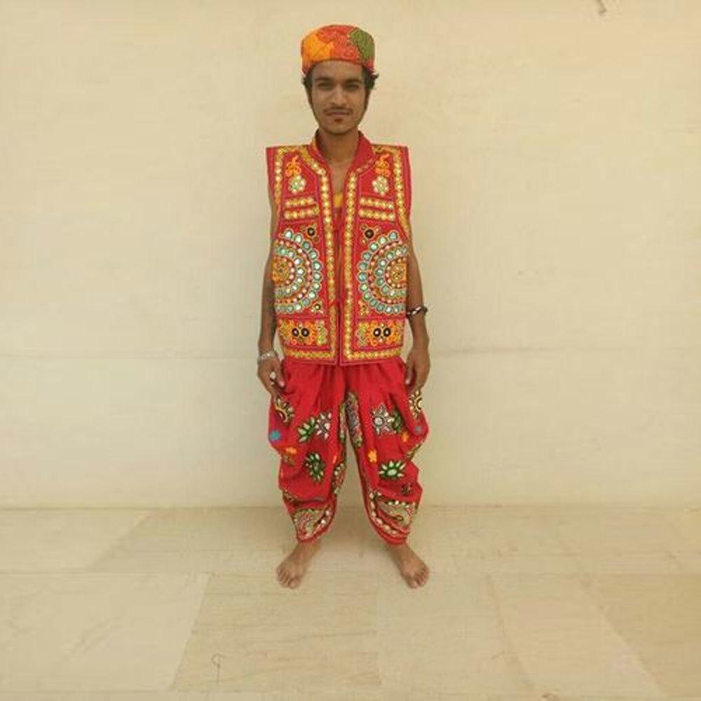 Dandiya Dress Red Half Sleeve Costume