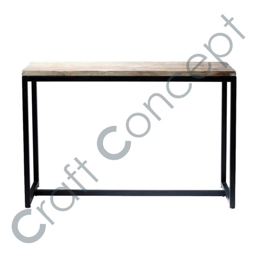 Solid Wood & Iron Console Table